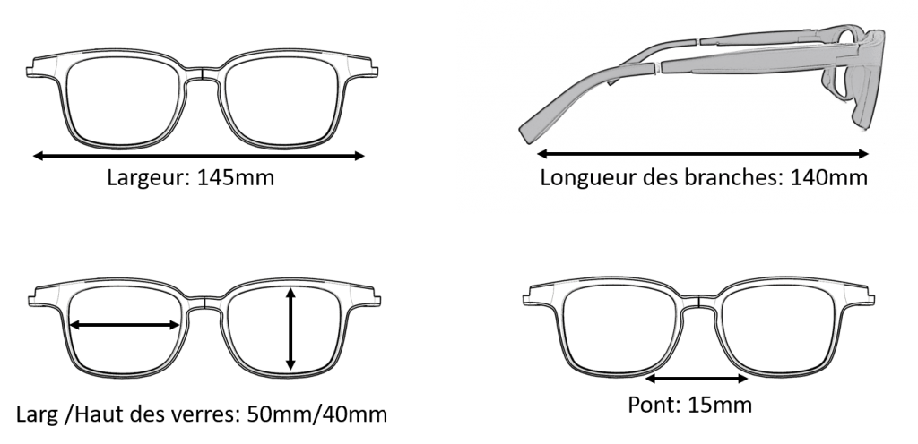 Dimension Lunettes Serenity Eyewear Carré