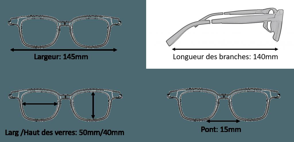 Dimension Lunettes Serenity Eyewear Carré