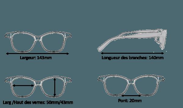 Dimension Lunettes Serenity Eyewear Papillon