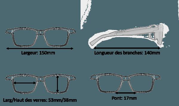 Dimension Lunettes Serenity Eyewear rectangle