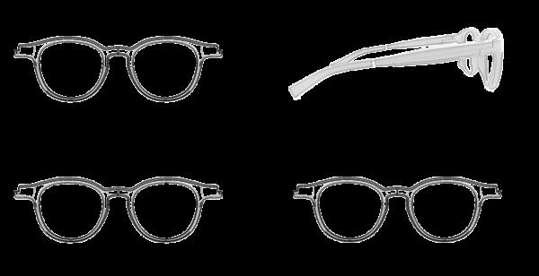 Dimension glasses Ellcie Healthy round