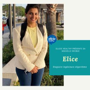Rencontrez Elice, stagiaire Ingénieure en algorithme chez Ellcie Healthy