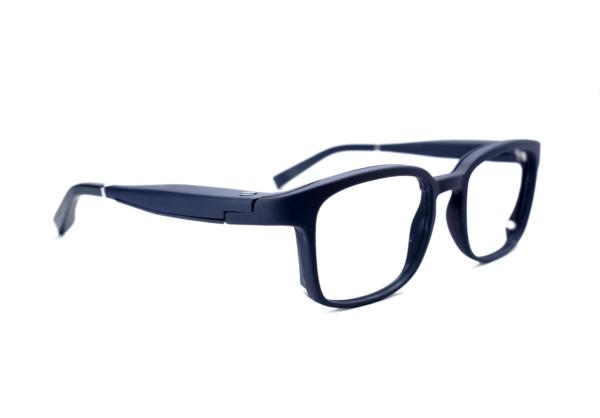 Serenity Eyewear Carré bleu foncé profil