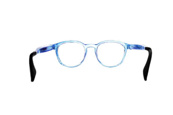 Serenity Eyewear Ronde Bleu translucide dos