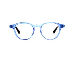 SERENITY EYEWEAR – ROUND TRANSLUCENT BLUE