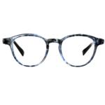 Serenity Eyewear Ronde Ecaille bleu face