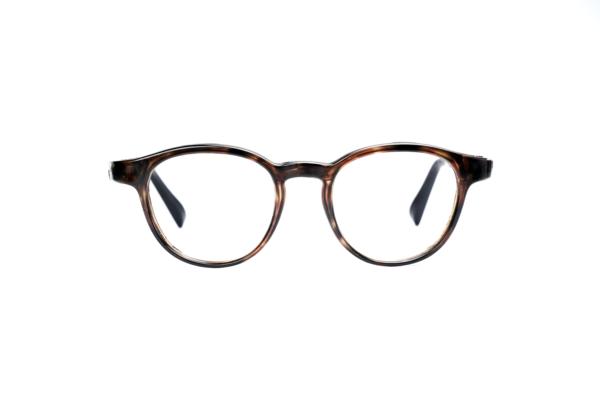 Serenity Eyewear Ronde Ecaille marron face