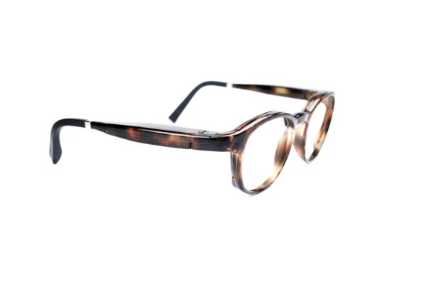 Serenity Eyewear Ronde Ecaille marron profil