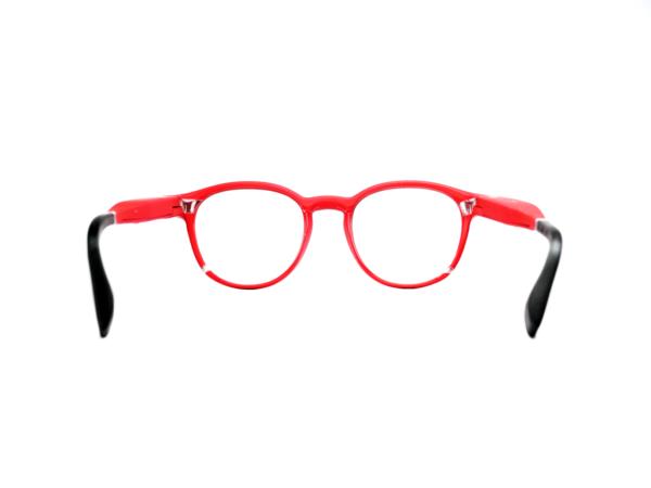 Serenity Eyewear Ronde Rouge vif dos