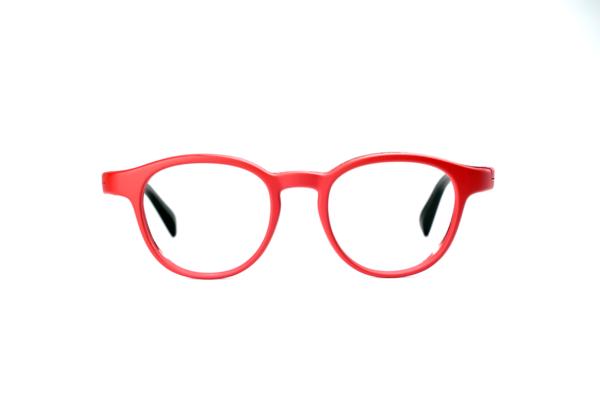Serenity Eyewear Ronde Rouge vif face
