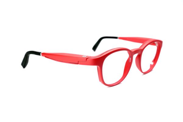 Serenity Eyewear Ronde Rouge vif profil