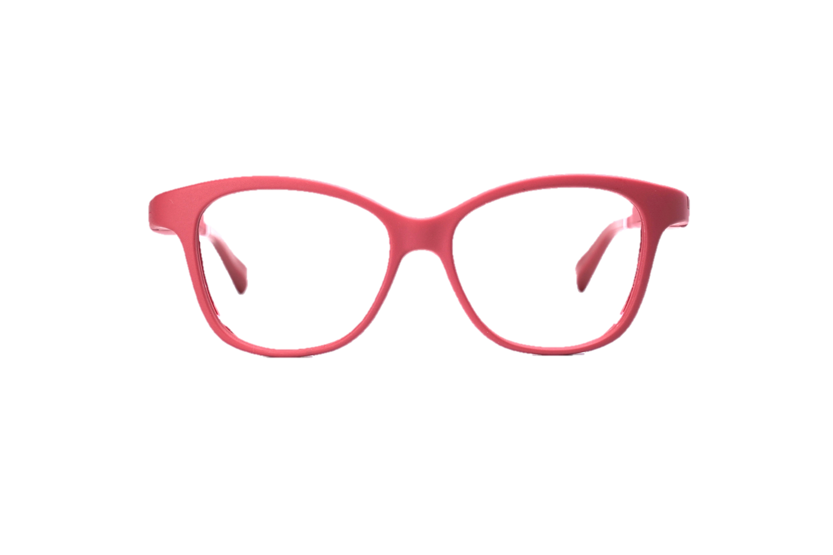 Serenity Eyewear papillon rouge foncé face