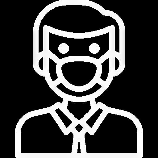 icone detection de la pollution bLanc