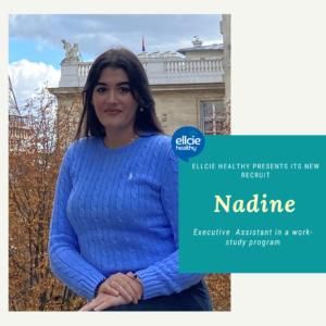Meet Nadine, Executive assistant intern at Ellcie Healthy